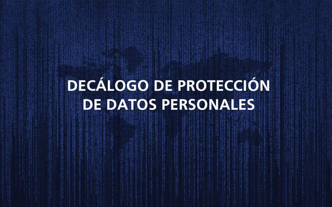 Decálogo de protección de datos personales