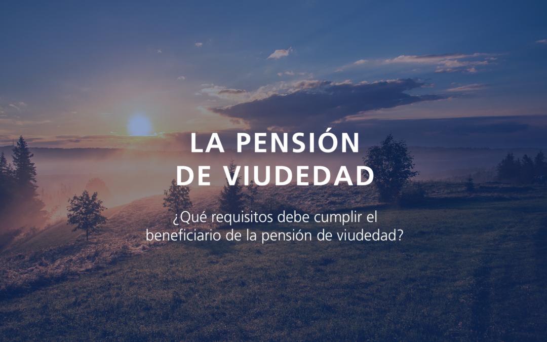 La pensión de viudedad