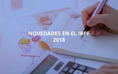 Novedades en el IRPF 2018